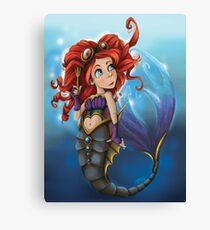 Steampunk Little Mermaid Canvas Print