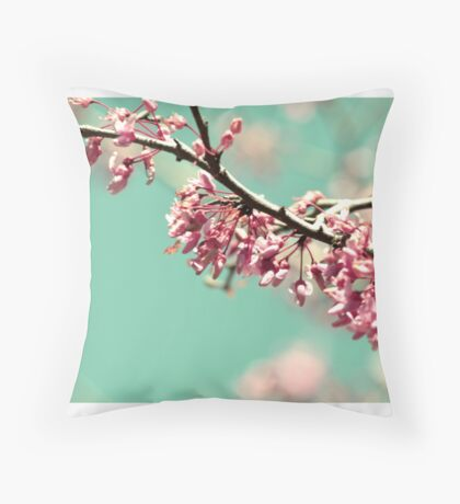 lovely pink blooms  Throw Pillow