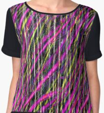 Striped Grunge Chiffon Top