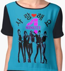 ♥♫SaRangHaeYo(Love) Hot Fabulous K-Pop Girl Group-4Minute Clothes & Phone/iPad/Laptop/MackBook Cases/Skins & Bags & Home Decor & Stationary & Mugs♪♥ Chiffon Top