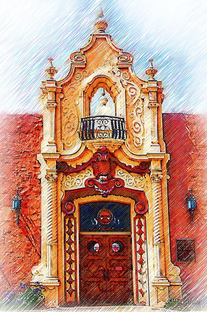 Sketched Train Station Door by KirtTisdale