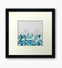 Colorflash 3 Turquoise Framed Print