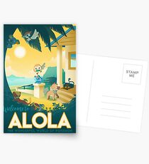 welcome to alola Postcards