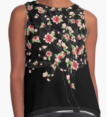 Cherry Blossoms Tree Contrast Tank