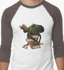Well-Read Octopus Men's Baseball ¾ T-Shirt