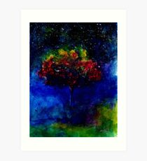 One tree in the universe Art Print