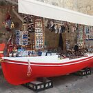 The Red Boat Of Dubrovnik by Fara