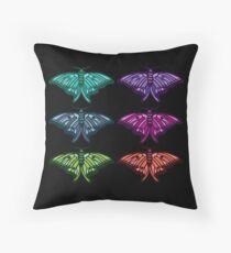 Technicolor Butterfly Collection Throw Pillow