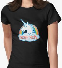 Death Metal Unicorn Women's Fitted T-Shirt