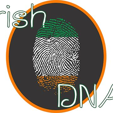 Irish Flag DNA Fingerprint by FortuneCookieTs