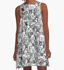 just dogs coral mint A-Line Dress