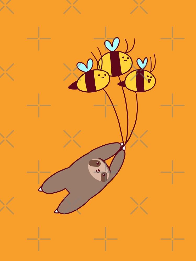Sloth and Bumble Bees by SaradaBoru