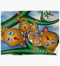Inner Child - Singing Birds in Pink Shoes Poster