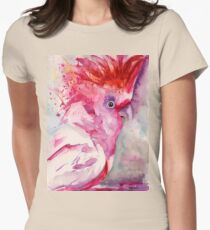 Pink Cockatoo Womens Fitted T-Shirt