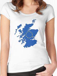 Scotland Map EU Women's Fitted Scoop T-Shirt