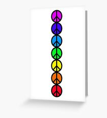 7 Chakras of Peace Greeting Card
