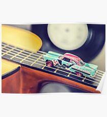 Rock & Roll Car Poster