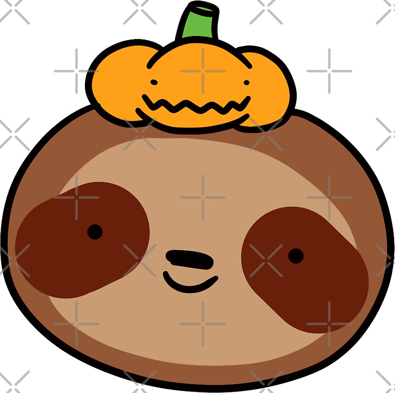 Pumpkin sloth by saradaboru