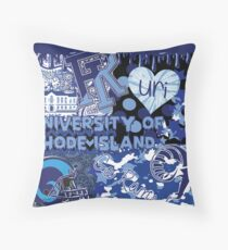University of Rhode Island Collage Throw Pillow