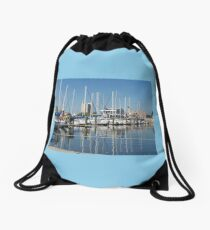 Sailing Boats Drawstring Bag