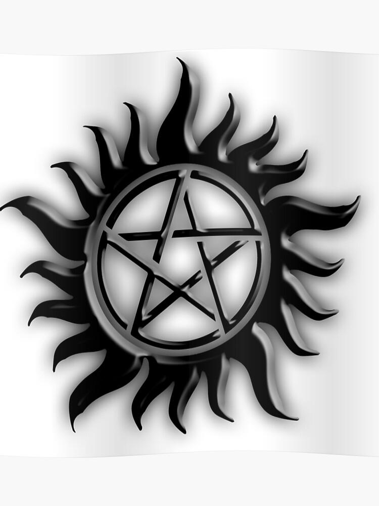 Supernatural Anti Possession Symbol   Poster