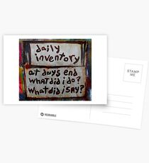 daily inventory Postcards