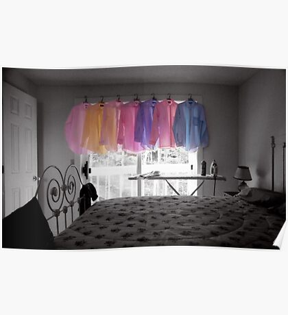 Ironing Adds Color to a Room Poster