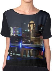 Des Moines Skyline with Orlando Tribute Chiffon Top