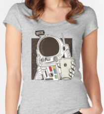 Houston... We have a Coffee!  Women's Fitted Scoop T-Shirt