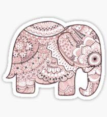 Pink Mandala Elephant Sticker