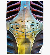 1940s Dodge Truck Grill Detail Poster