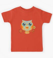 Owl's Summer Love Letters Kids Tee