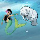 The Mermaid and the Manatee! by FurkiniAtoll