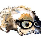 Watercolour guinea pig by Tristan Klein