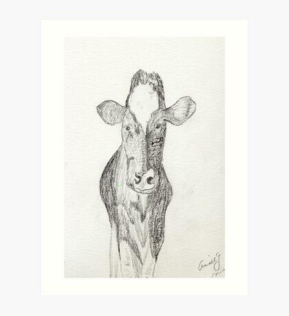 Jen's Gentle COW Art Print