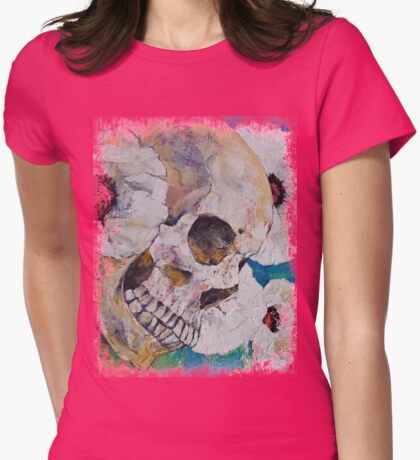 Skull with White Poppies T-Shirt