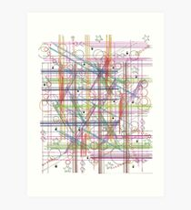 Linear Thoughts Art Print