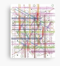 Linear Thoughts Canvas Print