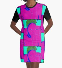 Neon Beauty Graphic T-Shirt Dress