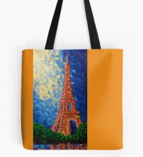 Eiffel Tower in Color Tote Bag