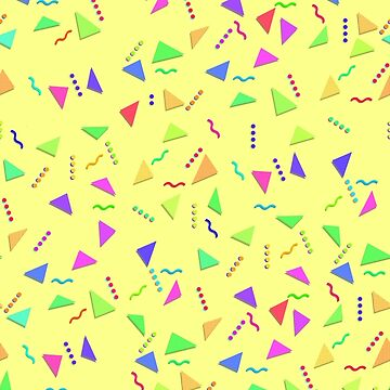 Confetti on Yellow (pattern) by narufry