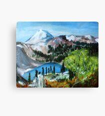 Mount Shuksan acrylics On Canvas Board Canvas Print