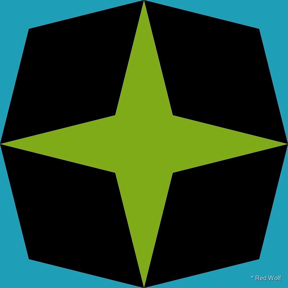 Geometric Pattern: Diamond Star: Parkside by * Red Wolf