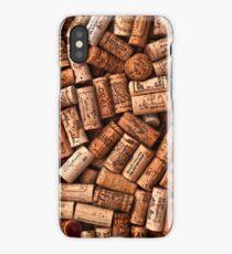 Wine corks textures iPhone Case