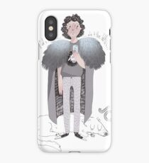 Contemporary Jo as a worn out apple user iPhone Case/Skin