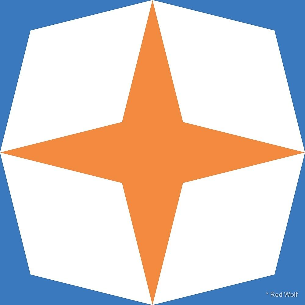 Geometric Pattern: Diamond Star: Racer by * Red Wolf