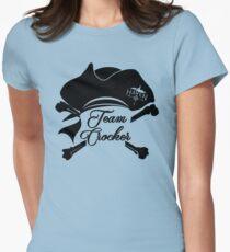 Haven Team Crocker Black Pirate Hat Logo Womens Fitted T-Shirt