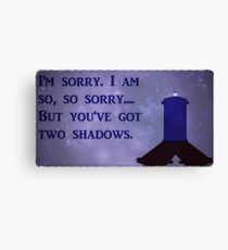 Dr. Who Silence in the Library Canvas Print