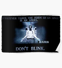 Weeping Angel/ Don't Blink Poster