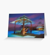 Tropical Nightscape Greeting Card